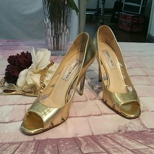 Jimmy Choose London Golden Heels